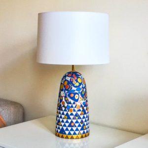Mozaiková stolní lampa