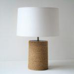 stolní lampa přírodní lano