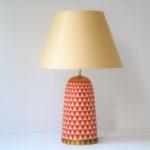 stolní lampa červená scandi