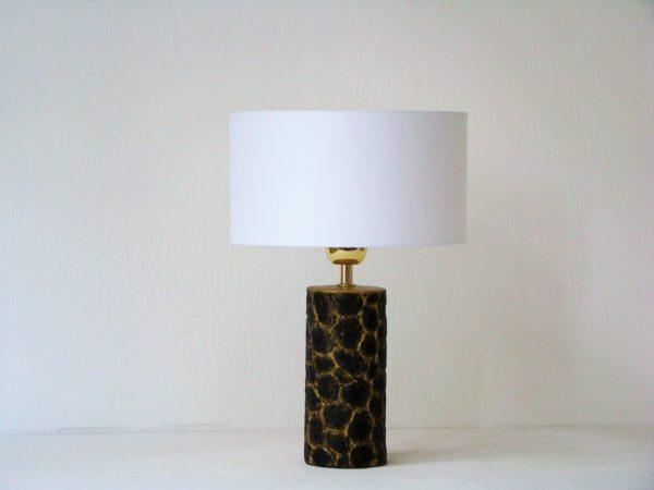 designova stolni lampa cerna zlata bile stinidlo
