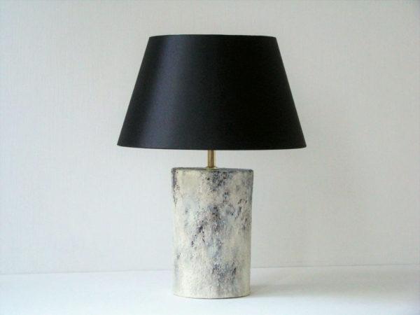 stolní lampa mramorova cerne stinidlo