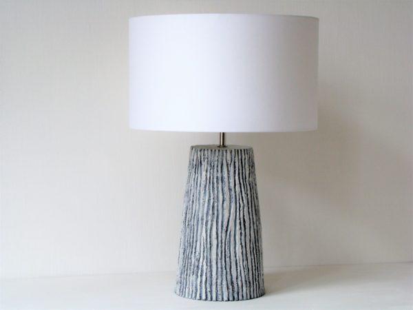 stolní lampa šedá přírodní