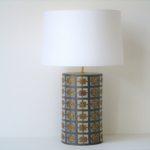 stolni lampa rucne malovana mozaika
